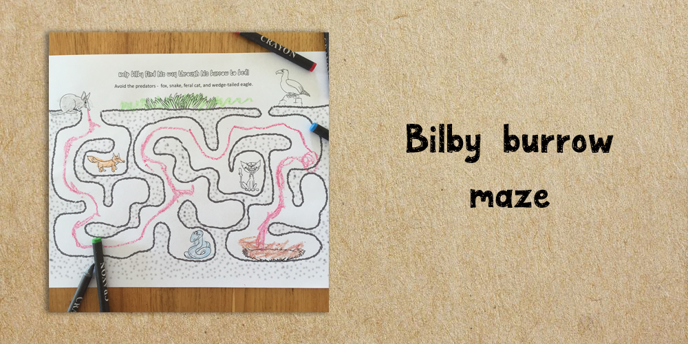 Bilby burrow maze - Website Activities