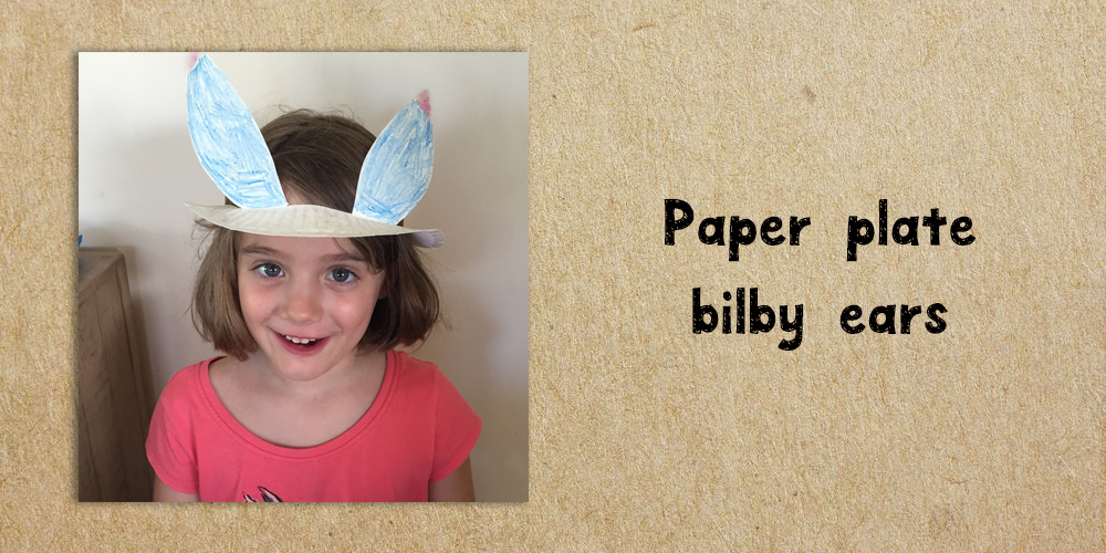 Paper plate bilby earts - website activity