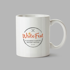 WriteFest mug mock up